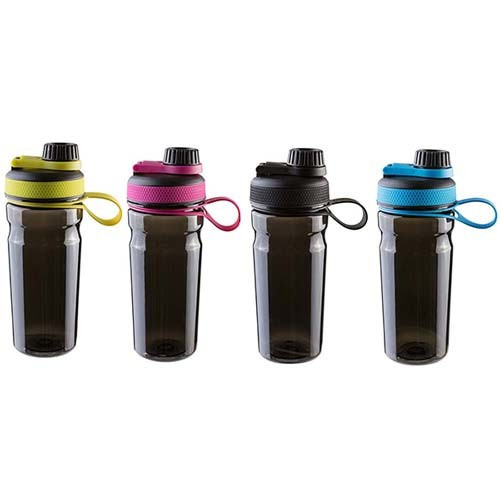 Бутылка для воды Sport с шейкером 600 мл, черная