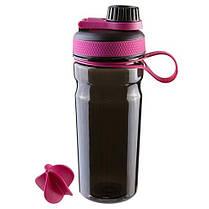 Бутылка для воды Sport с шейкером 600 мл, черная, фото 2