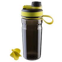 Бутылка для воды Sport с шейкером 600 мл, черная, фото 3