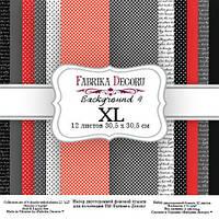 Набор скрапбумаги Backgrounds 4 XL 30,5 x30,5 см 12 листов