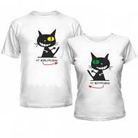 Парные футболки прикольные коты