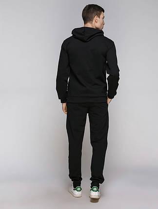 Спортивный костюм мужской, чёрный, фото 2