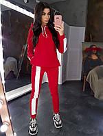 Красный теплый костюм на флисе, фото 1