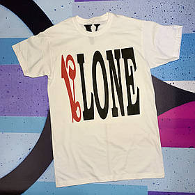 Футболка біла Palm Angels x Vlone Red • Палм Анджелс футболка
