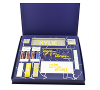 Великий подарунковий набір для макіяжу Kylie Jenner Big Box синій