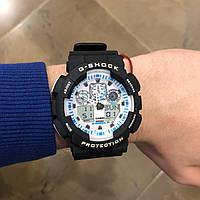 Часы наручные Casio G-Shock черные с белым