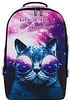 Рюкзак галактический с котом в очках