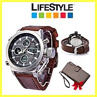 Наручные армейские часы AMST + Кошелек Baellerry Business в Подарок