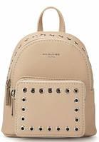 Женский маленький рюкзак David Jones CM 3717 бежевый