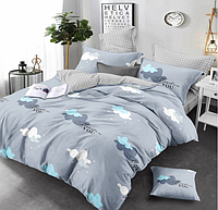 Сатиновое двуспальное постельное белье 180х220 (13635) хлопок 100% KRISPOL Украина