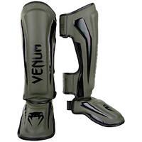 Защита голеностопа Venum Elite Standup Shinguards Khaki Black (VENUM-1394-200), фото 1