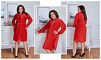 Милое мягенькое платье-халатиквельвет - стрейч Застежка кнопка (48-58)