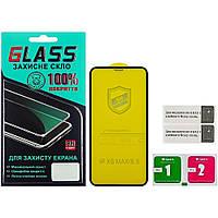 Защитное стекло для APPLE iPhone XS Max/11 Pro Max (0.3 мм, 4D ARC чёрное) Люкс