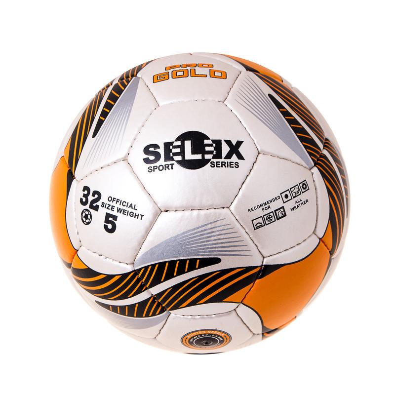 Мяч футбольный Grippy PRO GOLD Pearl, оранжевый