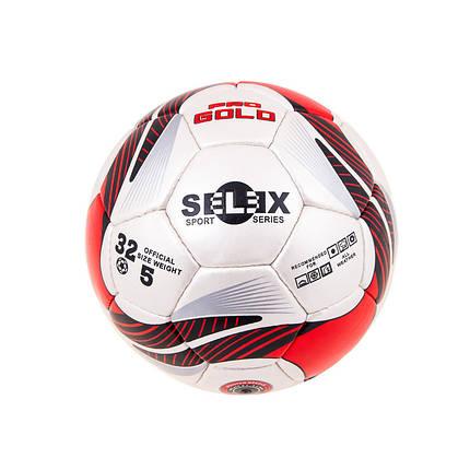 Мяч футбольный Grippy PRO GOLD Pearl, красный, фото 2