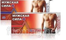 Чоловіча сила (4 табл по 0,5 г).1 таблетка містить силденафілу цитрат, еквівалентно силденафілу 100 мг