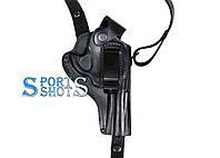 Кобура оперативная Револьвер 4 формованная с клипсой (кожа, чёрная)