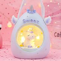Детский ночник-светильник Единорог. Голубой, Дитячий нічник-світильник Єдиноріг. Блакитний