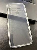 Чехол для Huawei P Smart Z силиконовый прозрачный (с заглушками)