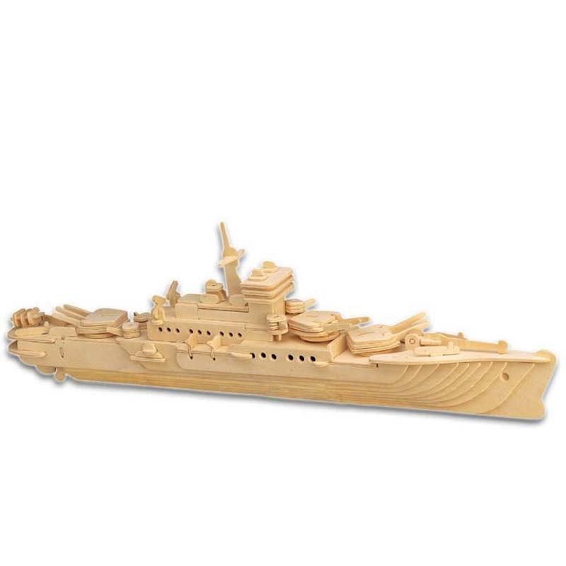 3D Деревянный конструктор. Модель Корабль Крейсер, Деревянные 3D конструкторы