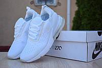 Женские кроссовки в стиле Nike Air Max 270, текстиль, сетка, пена, белые 39 (25 см)