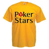 Футболки с нанесением надписей на заказ POKER STARS