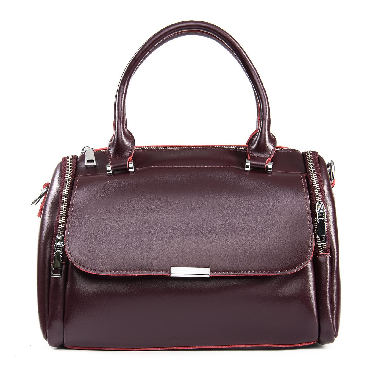 Сумка Женская Классическая кожа ALEX RAI 09-2 2231 burgundy