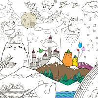 Плакат-раскраска Котоляндия XL (тубус), Плакат-розмальовка Котоляндия XL (тубус)