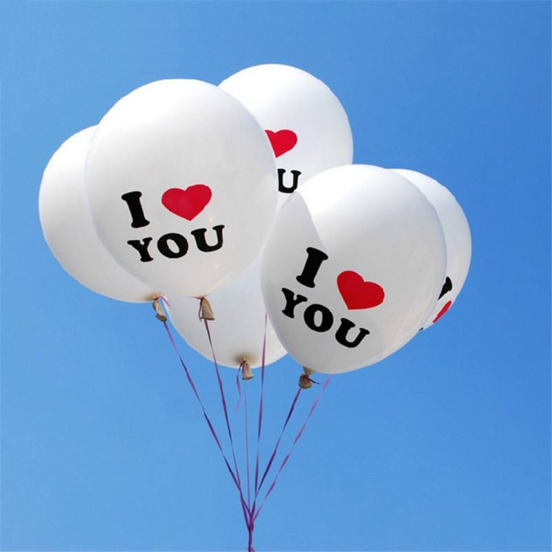Воздушные шары с надписью I LOVE YOU (10 шт.), Всякая всячина