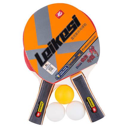 Ракетка для настольного тенниса Leikesi LX-2142 (2 ракетки, 3 мячика), фото 2