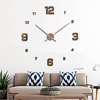 Часы настенные круглые большие 3D 4205, цвет медь