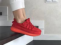 Женские кроссовки Adidas красного цвета