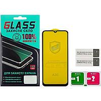 Защитное стекло для SAMSUNG A305 Galaxy A30/A505 Galaxy A50/A40S (0.3 мм, 4D ARC чёрное) Люкс