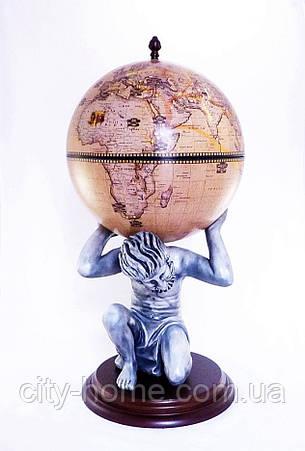 Глобус бар напольный «Atlas» — бежевый Зодиак 42016N-WE, фото 2