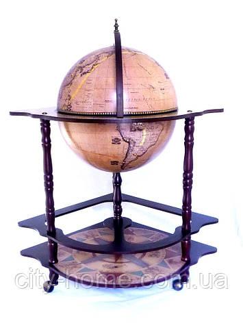 Глобус бар угловой 420мм — Зодиак 42014N-1, фото 2