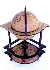 Глобус бар угловой 420мм — Зодиак 42014N-1, фото 3
