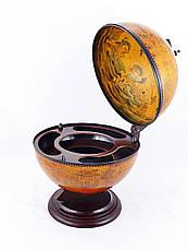 Глобус бар настольный 360 мм коричневый 36002R, фото 2