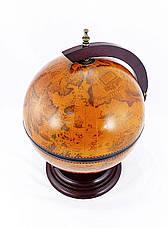 Глобус бар настольный 360 мм коричневый 36002R, фото 3
