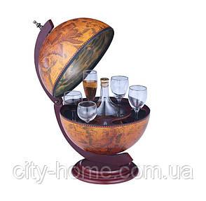 Глобус бар настольный 330мм коричневый 33002R, фото 2