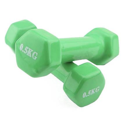 Гантели для фитнеса 2 шт по о.5 кг, фото 2