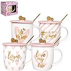 Чашка с крышкой и ложкой 360 мл Mon Amour 20613