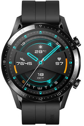 Смарт-годинник HUAWEI Watch GT 2 Sport (46mm) Matte Black, фото 2