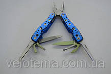 Мультитул многофункциональный нож туристический синий