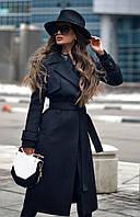 Женское Кашемировое Пальто с поясом БАТАЛ