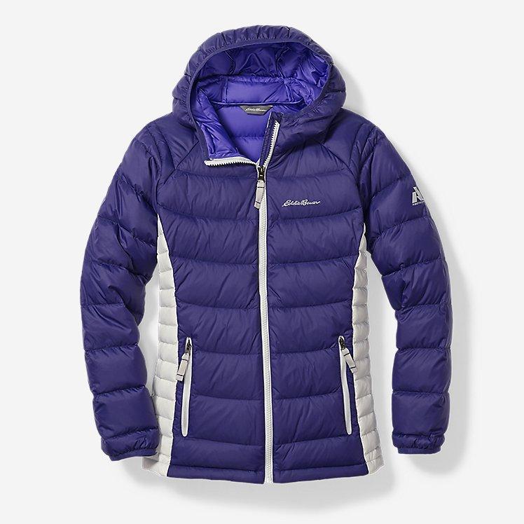 Легкий пуховик Eddie Bauer Girls Downlight Hooded Jacket Blueberry 7-8 років