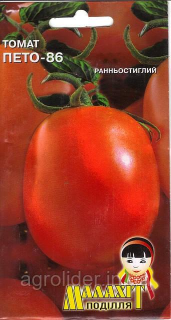 Семена томат Пето-86 0.1г Красный (Малахiт Подiлля)