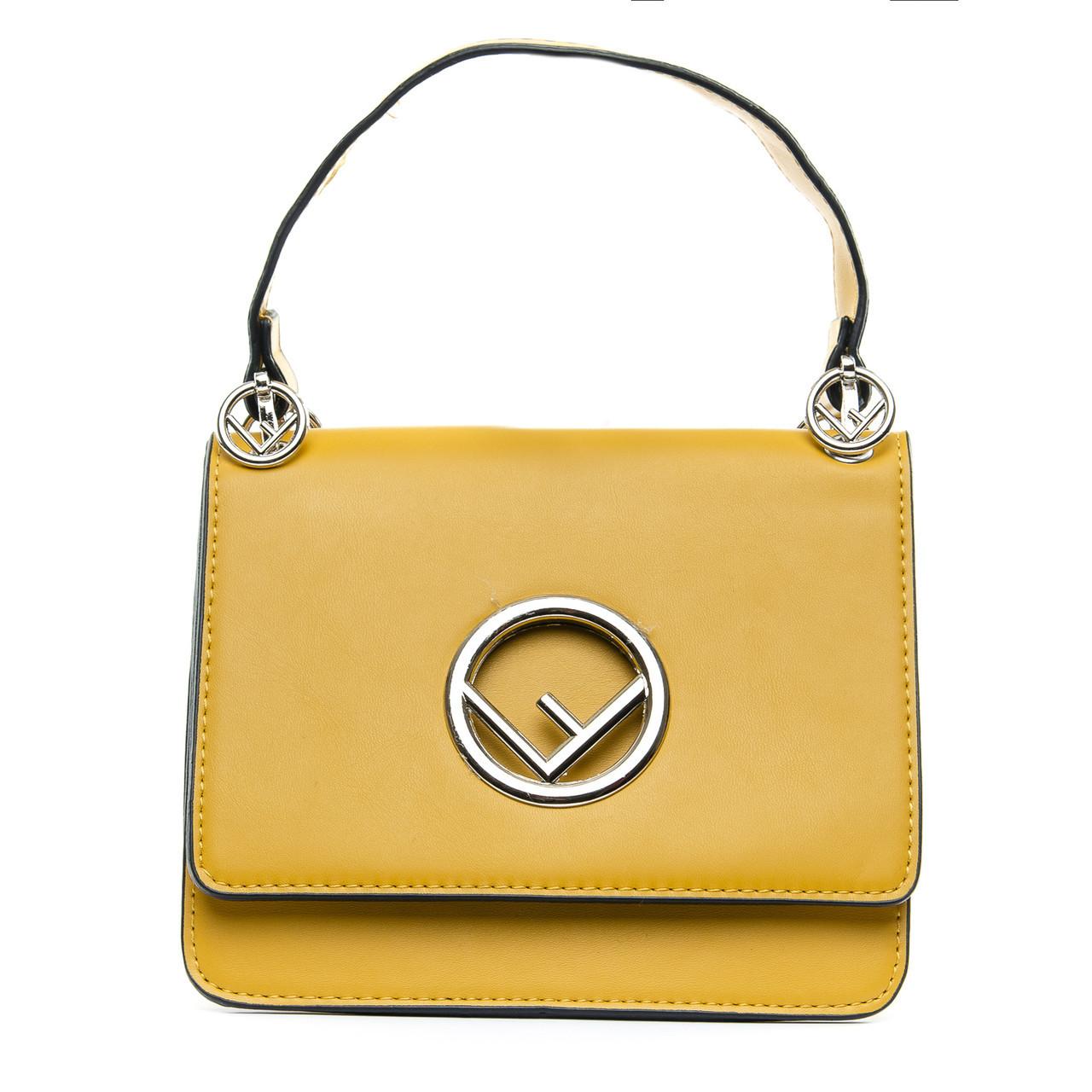 Сумка Женская Клатч иск-кожа 1-01 6686 yellow