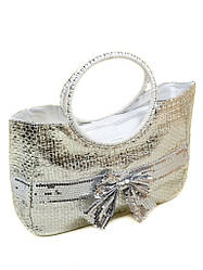 Сумка Женская Корзина текстиль PC5491R natural silver Распродажа