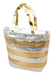 Сумка Женская Корзина текстиль PC5599A-1 white silver Распродажа