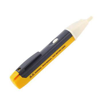 Бесконтактный индикатор напряжения фазы 90 - 1000 вольт с подсветкой, цвет желтый